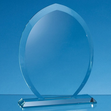 Jade Glass Tear Drop Award 15cm x 12cm x 15mm