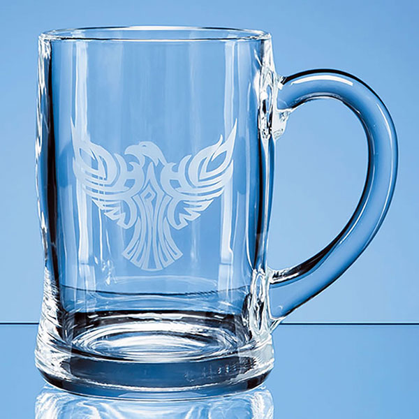 0.45ltr Curved Plain Glass Tankard