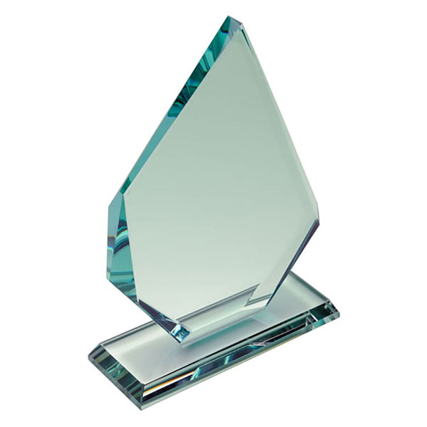 Engraved 16.5cm Jade Glass Elite Award