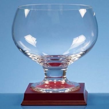 19cm Clear Glass Handmade Round Footed Comport