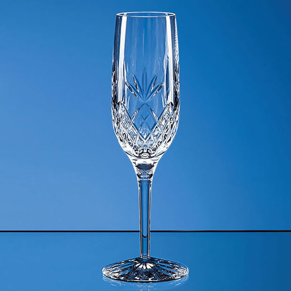 180ml Blenheim Lead Crystal Full Cut Champagne Flute