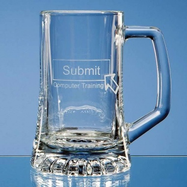 Half Pint Glass Stern Tankard with Handle