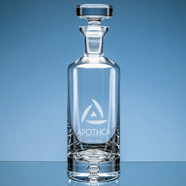 Handmade Bubble Base Round Decanter 'Arran' 0.75ltr