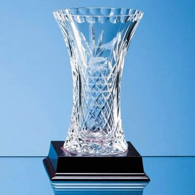 15cm Lead Crystal Panelled Flared Vase