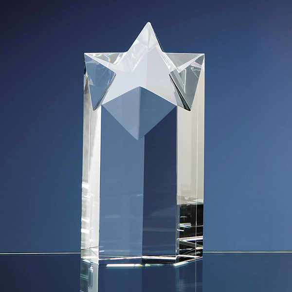 7in Optical Crystal Star Column Award