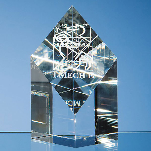 13cm Optic Crystal Diamond Award