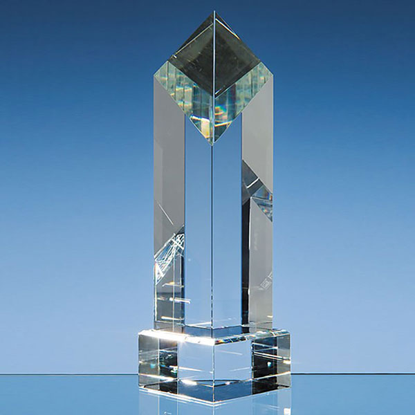 23cm Optic Crystal Diamond Award
