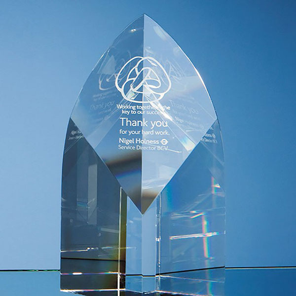 20cm Optic Crystal Arch Award