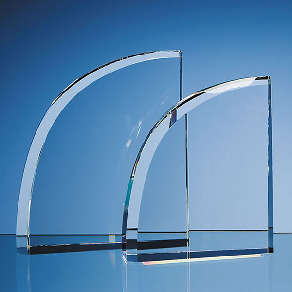 6in Optic Crystal Curve Award