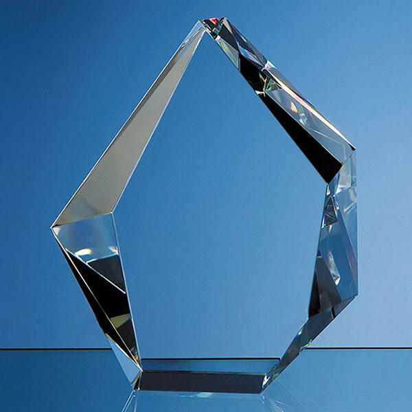 17cm Optic Crystal Facet Iceberg Award