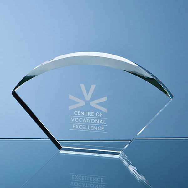 17.5cm Optical Crystal Bevelled Arch Award