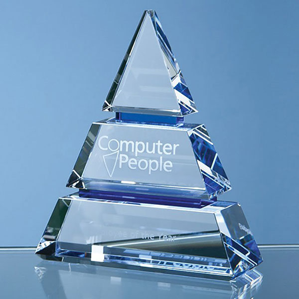 15cm Optical Crystal Luxor Award