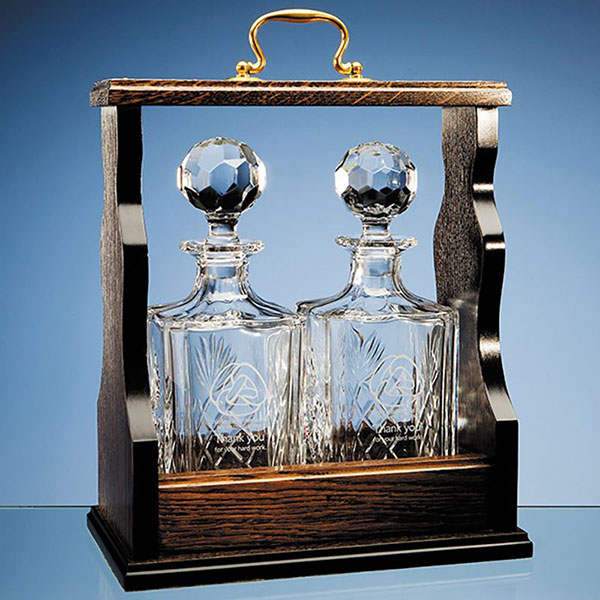 Mahogany Double Decanter Tantalus