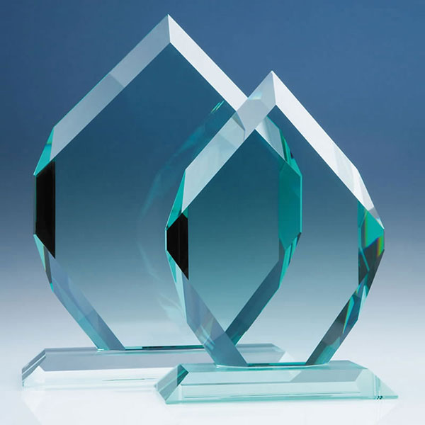 8in CrystalEdge Jade Royal Diamond Award