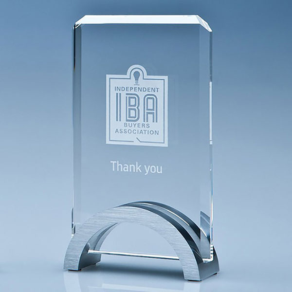 15cm Optical Crystal Rectangle Award