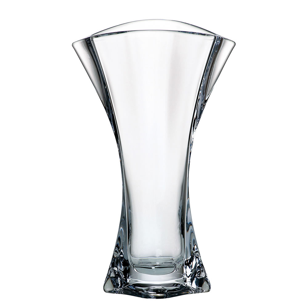 Engraved 30cm Crystalite Flared Vase From Crystal Awards Supplier