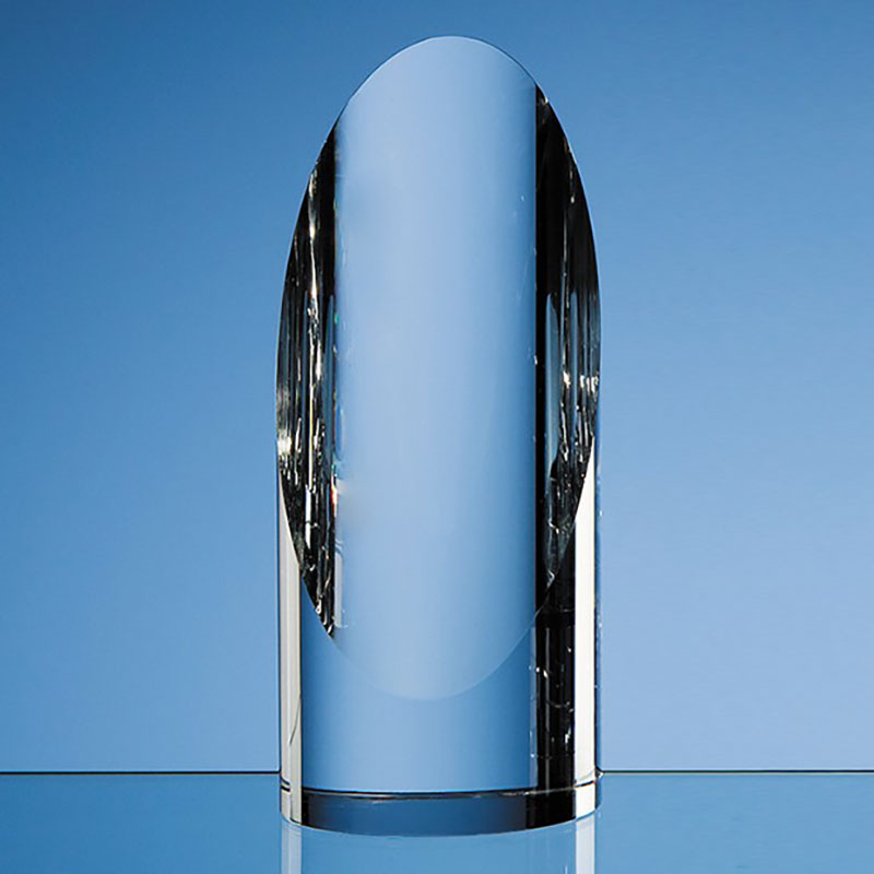 6.5in Optical Crystal Cylinder Award