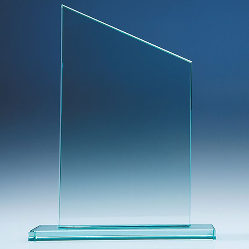 6in x 10in Jade Glass Slope Award