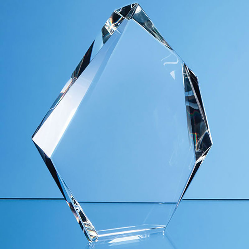 22.5cm Optical Crystal Facetted Ice Peak Award