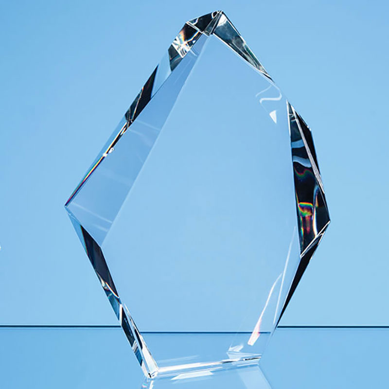 25.5cm Optical Crystal Facetted Ice Peak Award