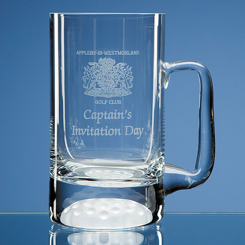 Golf Ball Pint Glass Tankard