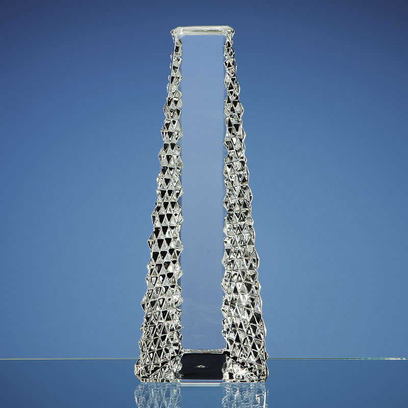 Mario Cioni 25cm Lead Crystal Tower Award