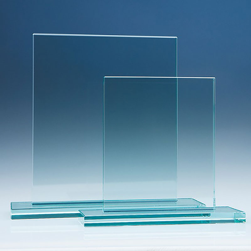 17.5x20cm Jade Glass Rectangle Plaque