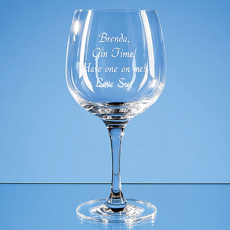 Engraved 755ml Connoisseur Spanish Gin Glass