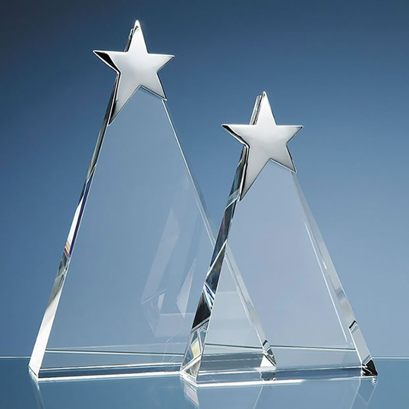 20cm Optic Triangle with Silver Star