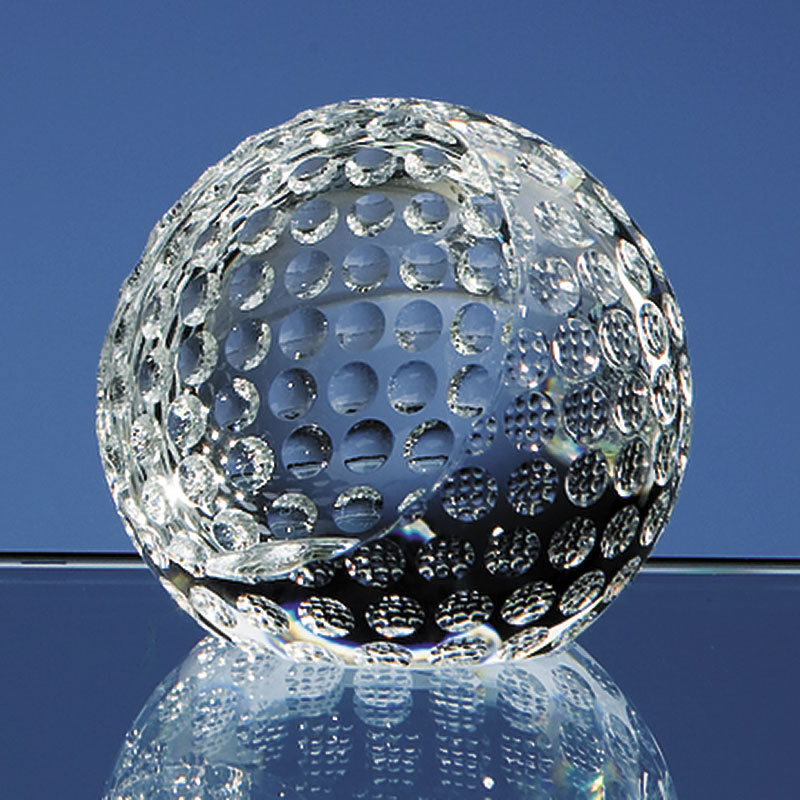 60mm dia Crystal Golf Ball Paperweight