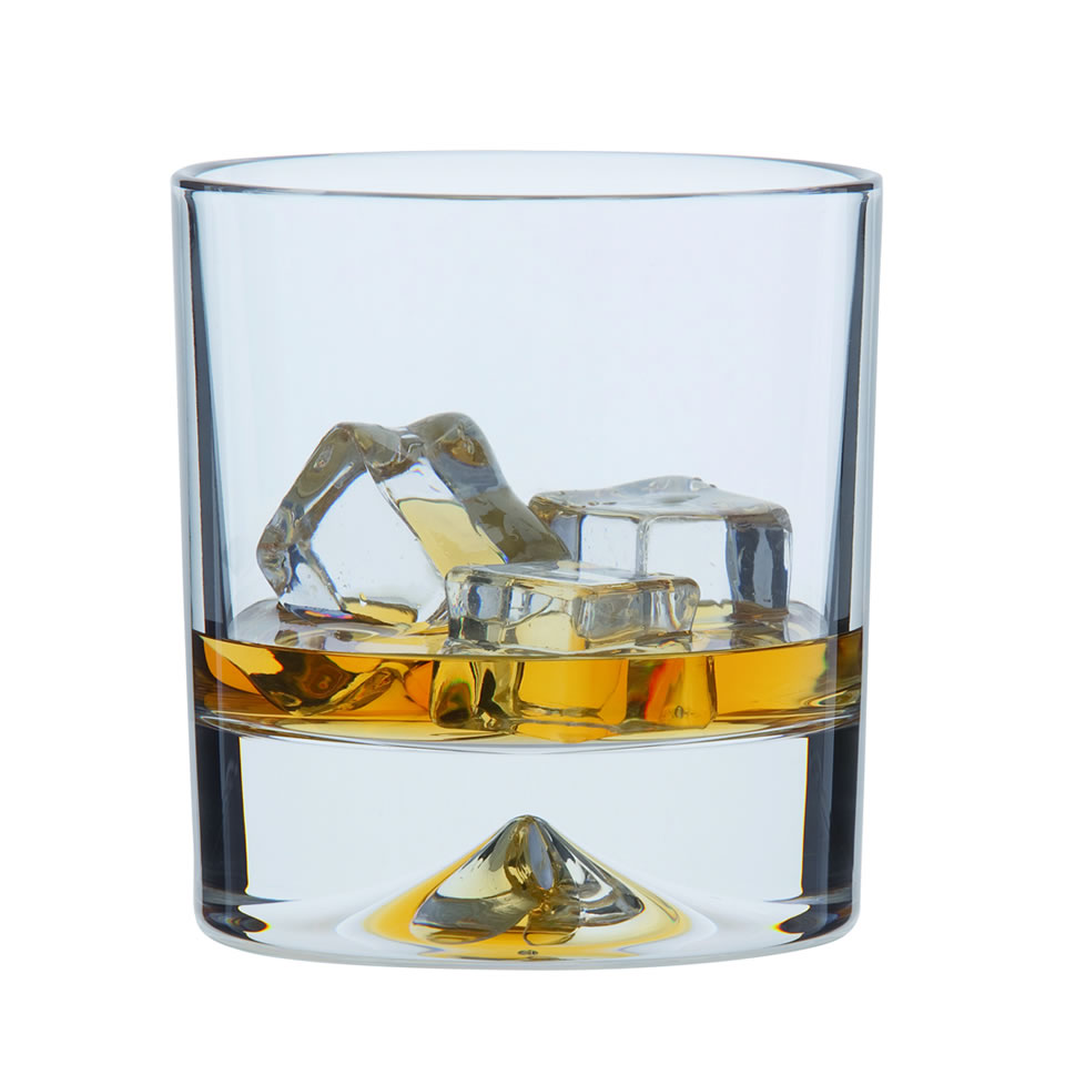 Single Dimple Double Old Fashioned Whisky Glass