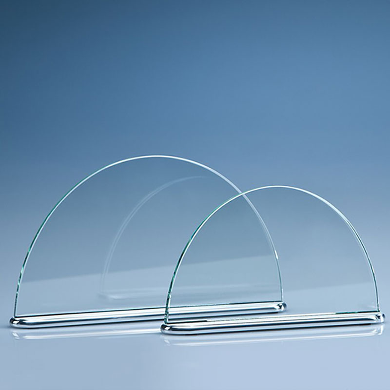 19.5cm Crystal Half Moon Plaque