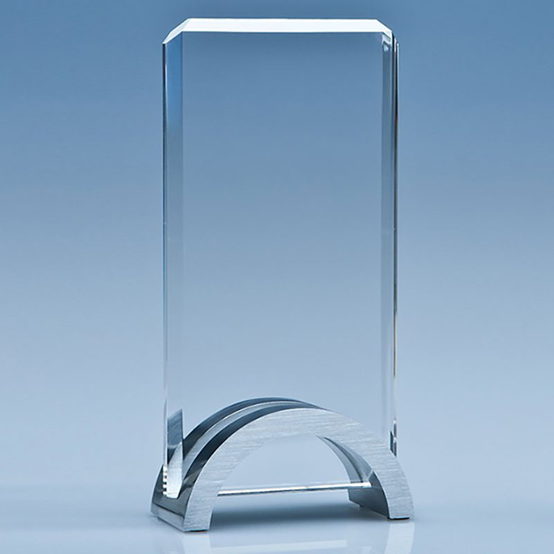 17.5cm Optical Crystal Rectangle Award