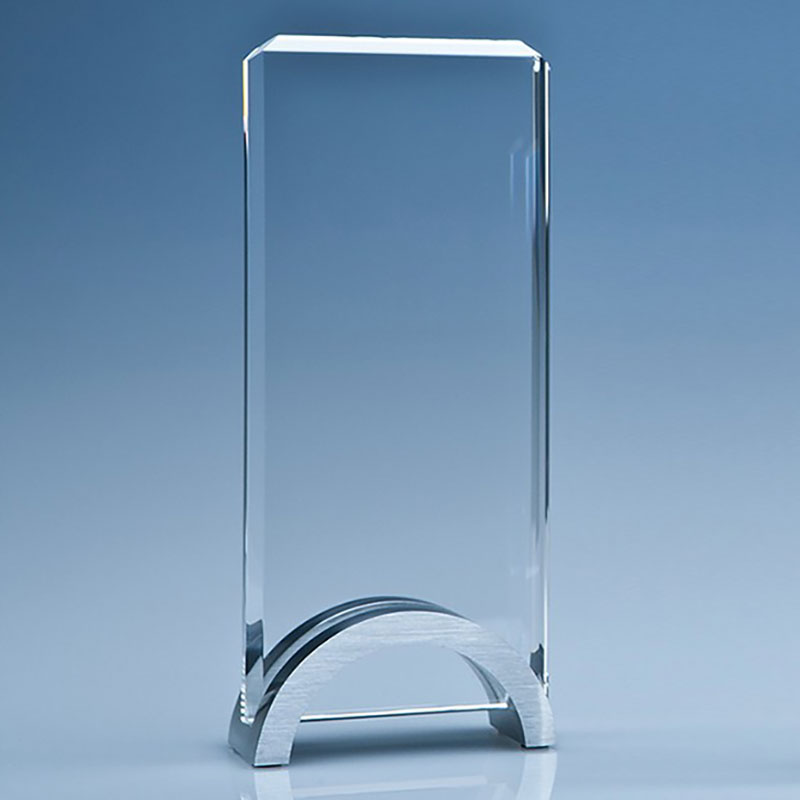 20cm Optical Crystal Rectangle Award