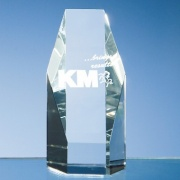 5in Optical Crystal Hexagon Award