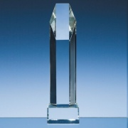 10in Optical Crystal Hexagon Award