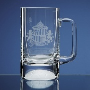 Half Pint Crystal Football Tankard L316