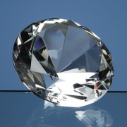 10cm Optical Crystal Diamond Paperweight L320