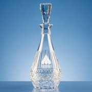 0.75ltr Lead Crystal Oval Wine Decanter L421