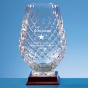 25cm Lead Crystal Panel Tulip Vase
