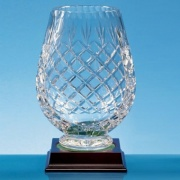 20cm Lead Crystal Panel Tulip Vase
