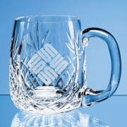 Lead Crystal Panel Barrel Tankard LOS1