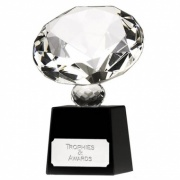 4.75in Mini Diamond Optical Crystal Award