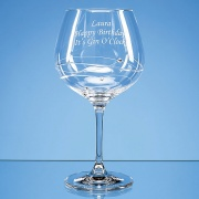 Engraved Diamante Gin Glass with Spiral