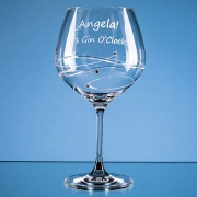 610ml Just For You Diamante Gin Glass with Spiral Design