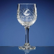 Durham Lead Crystal Panel Wine Glass Goblet