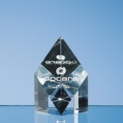 3in Optic Crystal Sloping Diamond Award