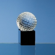 50mm Crystal Golf Ball on Black Base