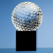 100mm Crystal Golf Ball on Black Base
