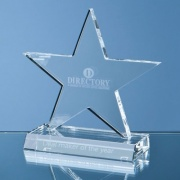 5in Optic Crystal Five Pointed Star on Base Award